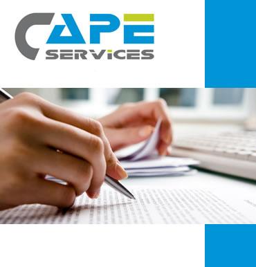 rédaction et relecture. métier porté par Cape Services